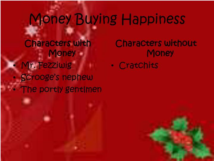 Money Buying Happiness