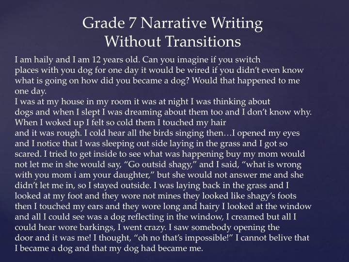 Grade 7 Narrative Writing