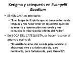 kerigma y catequesis en evangelii gaudiu m
