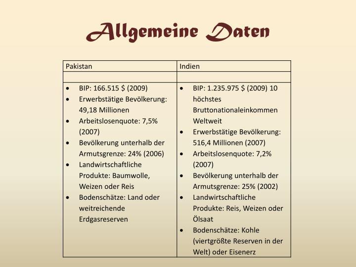 Allgemeine