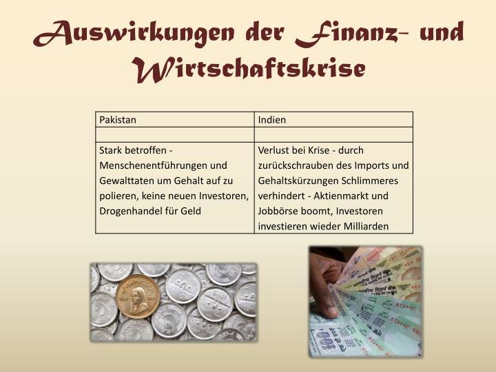 Auswirkungen der Finanz- und