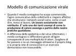 modello di comunicazione virale