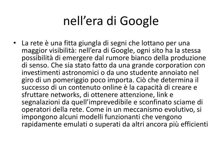 nell'era di Google