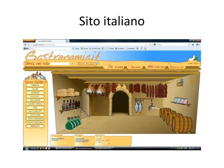 Sito italiano