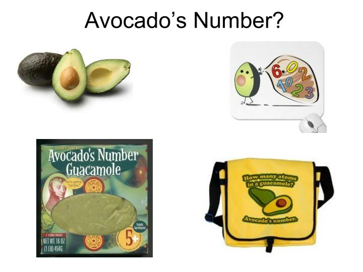 Avocado's Number?