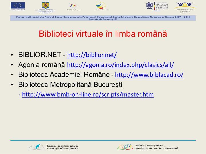 Biblioteci virtuale în limba română