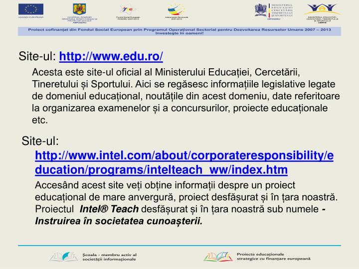 Site-ul: