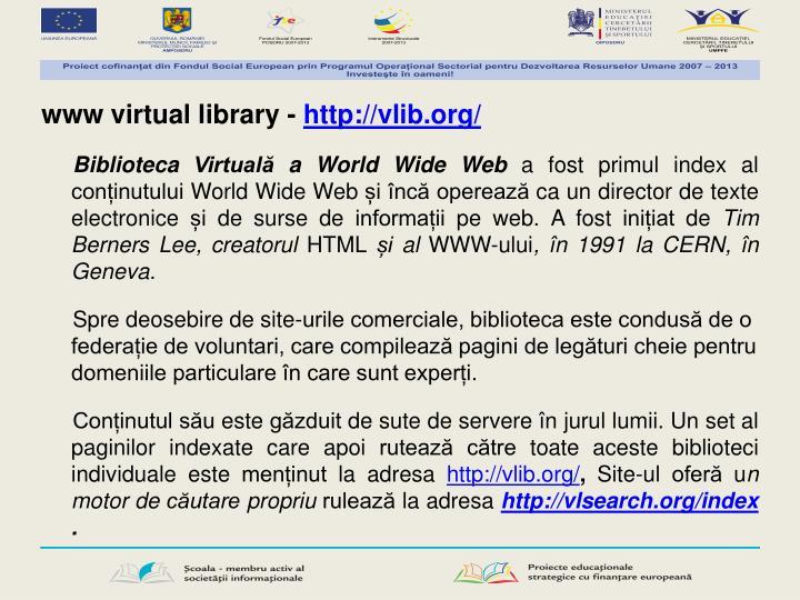 www virtual library -