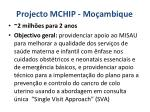 projecto mchip mo ambique