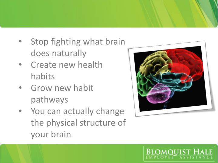 Stop fighting what brain does naturally