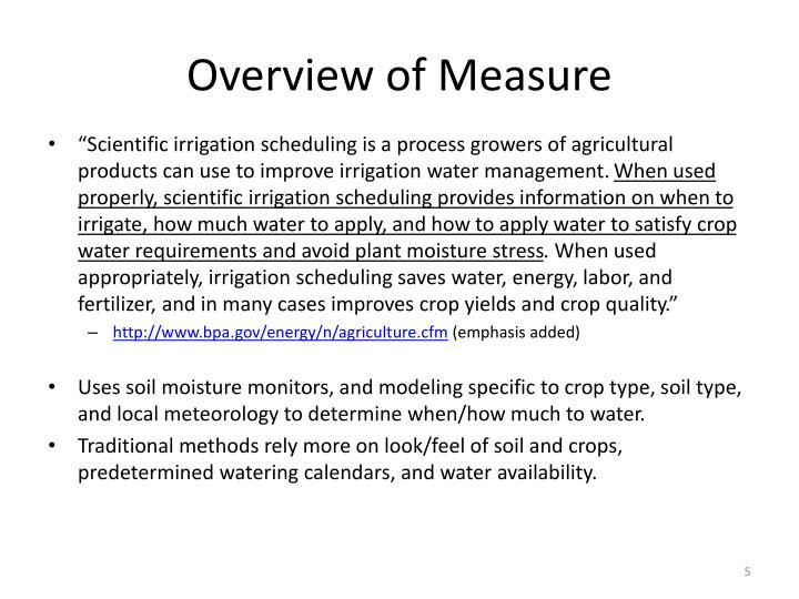Overview of Measure