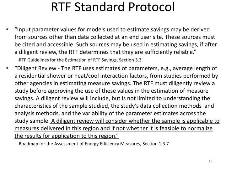 RTF Standard Protocol