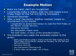 example motion