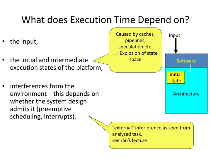 What does Execution Time Depend on?