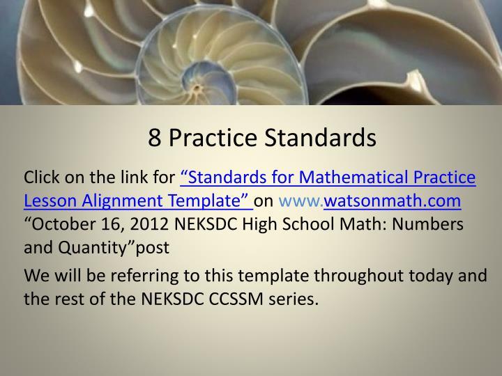 8 Practice Standards