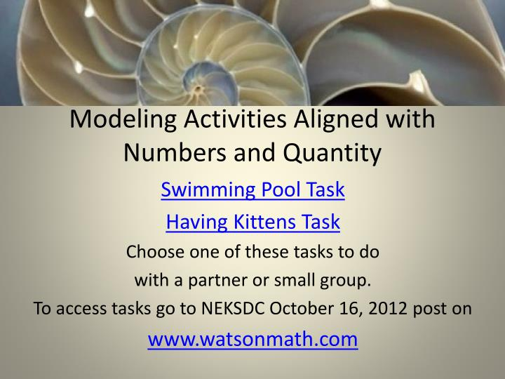 Modeling Activities Aligned with