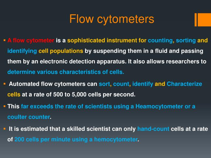 Flow cytometers