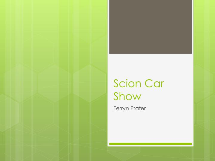 Scion Car Show