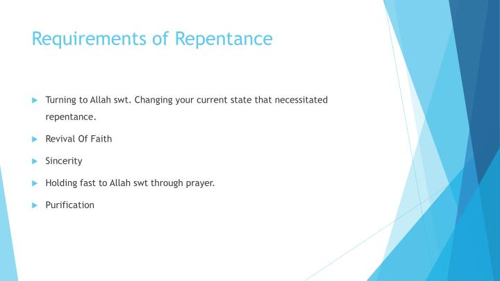 Requirements of Repentance