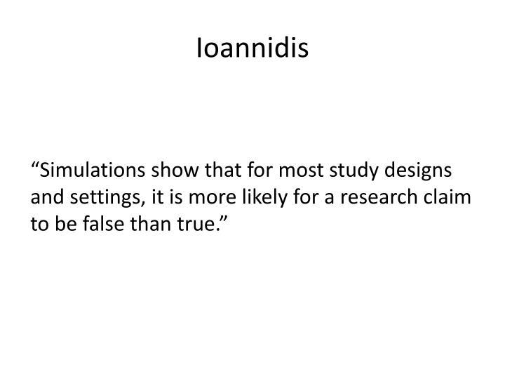 Ioannidis