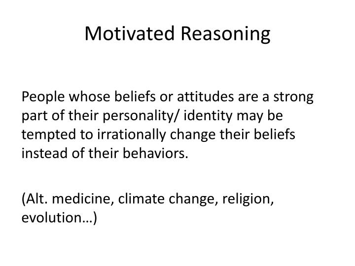 Motivated Reasoning