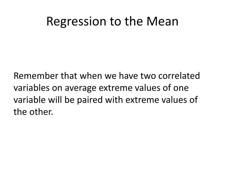 Regression to the Mean