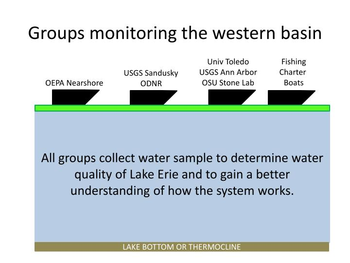 Groups monitoring the western basin