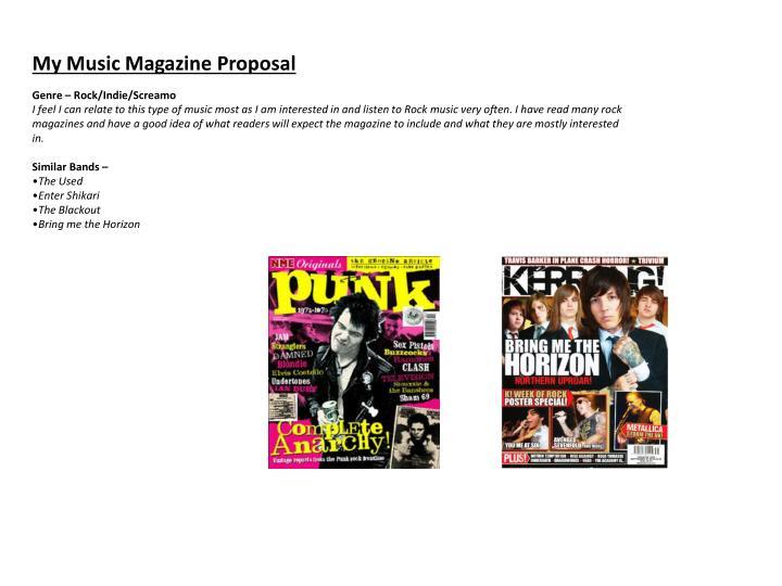 My Music Magazine Proposal