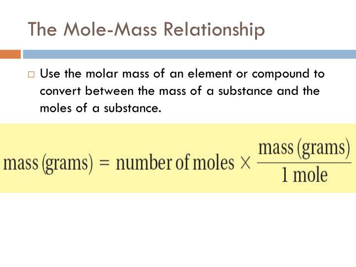 The Mole-Mass Relationship