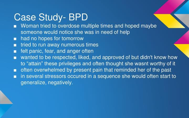 Case Study- BPD