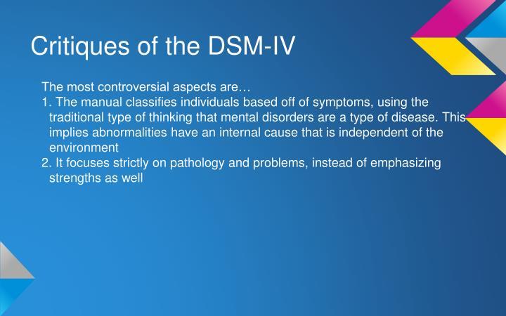 Critiques of the DSM-IV