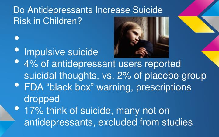 Do Antidepressants Increase Suicide Risk in Children?