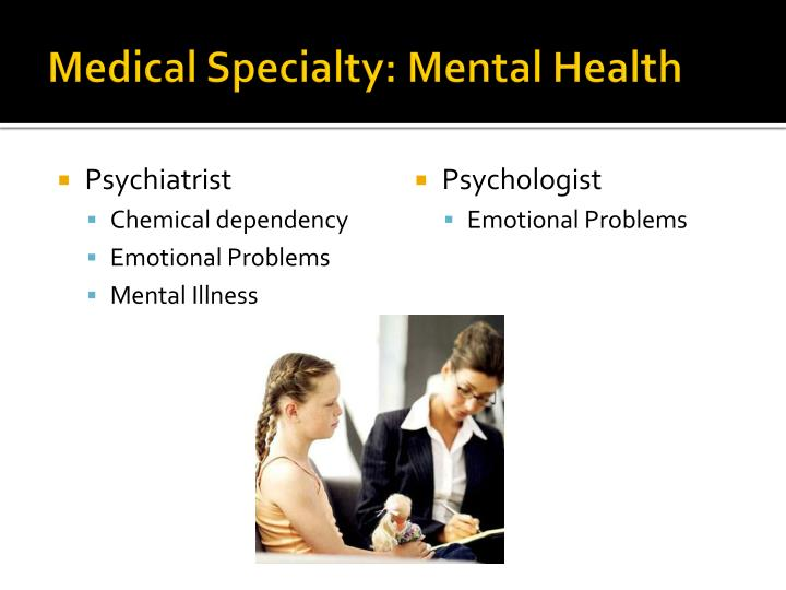 Medical Specialty: Mental Health