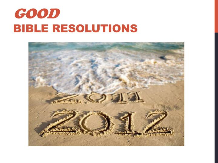 Good bible resolutions