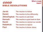 good bible resolutions5