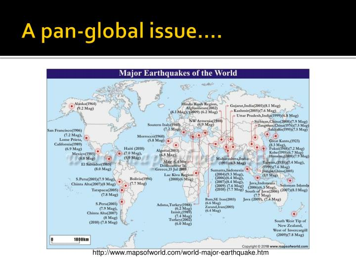 A pan-global issue….
