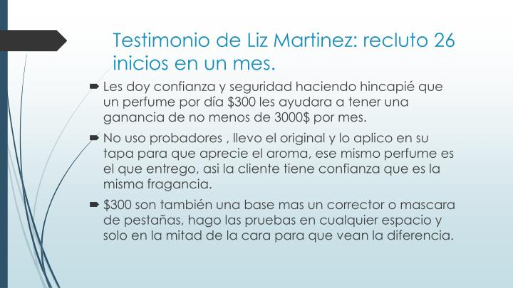 Testimonio de Liz