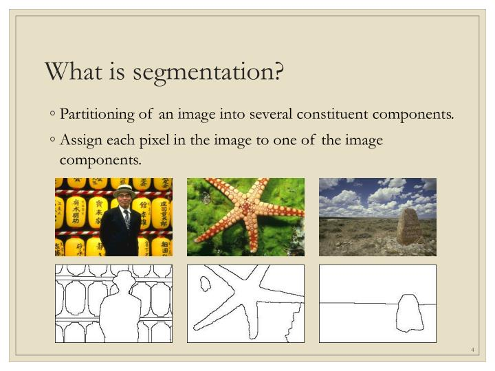 What is segmentation?