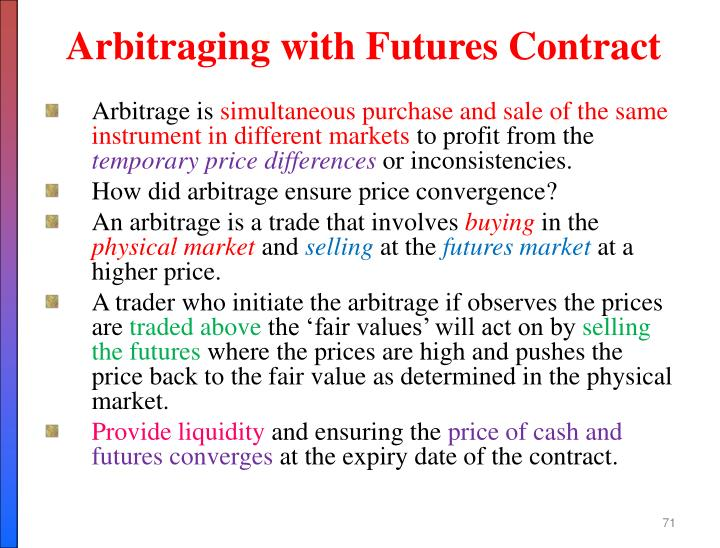 Arbitraging with Futures Contract