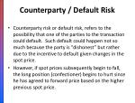 counterparty default risk