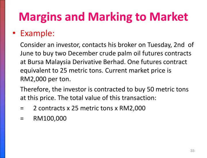 Margins and Marking to Market
