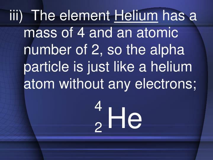iii)  The element