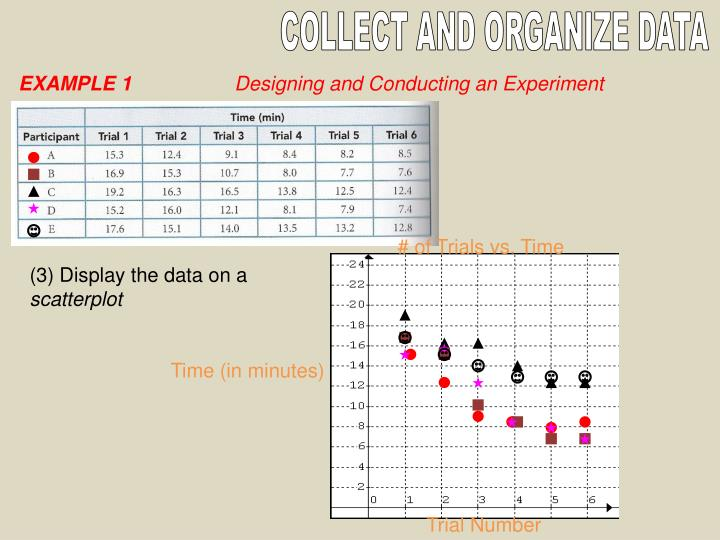 COLLECT AND ORGANIZE DATA