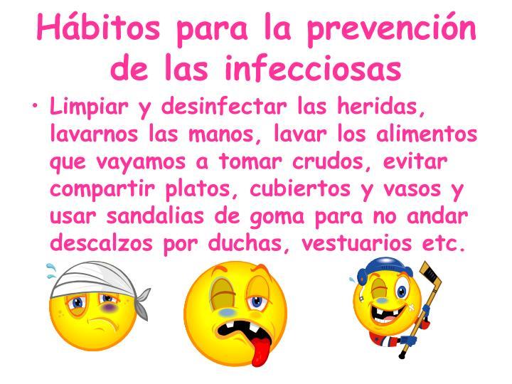 Hábitos para la prevención de las infecciosas