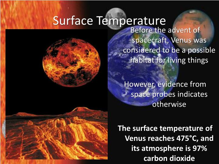 surface temps of planets - photo #37