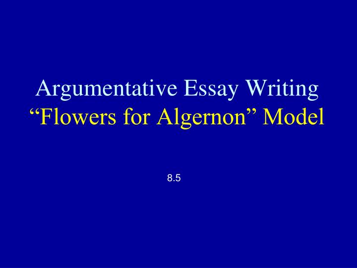 an essay in flowers for algernon