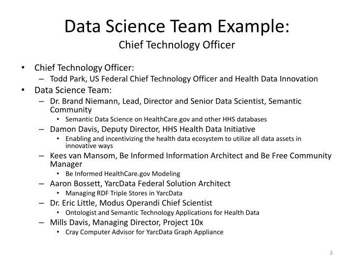 Data Science Team Example:
