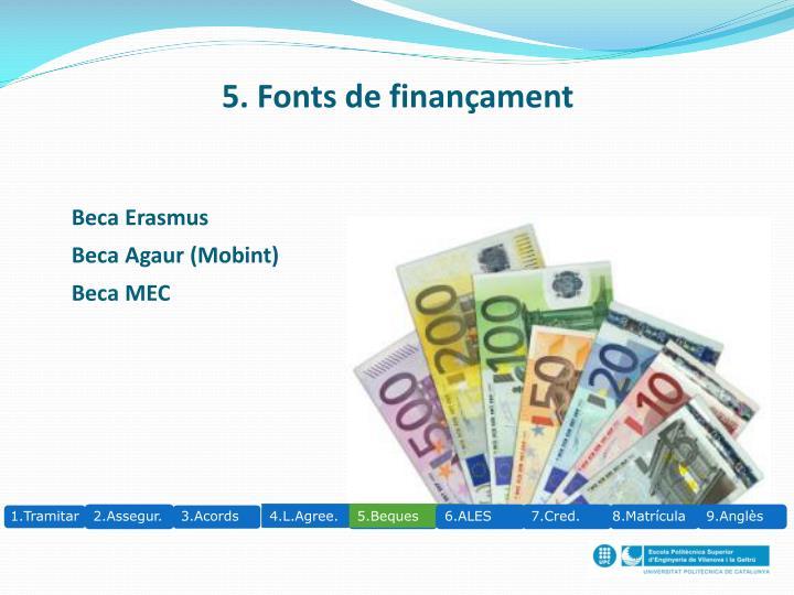 5. Fonts de finançament
