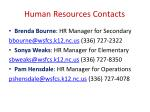 human resources contacts
