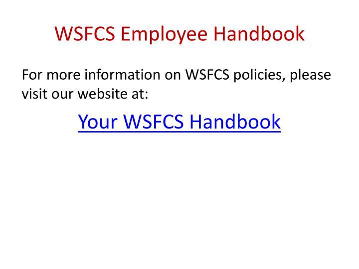WSFCS Employee Handbook